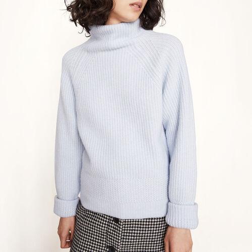 Knitted roll-neck jumper - Knitwear - MAJE