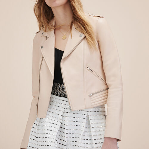 Leather jacket - Jackets & Bombers - MAJE