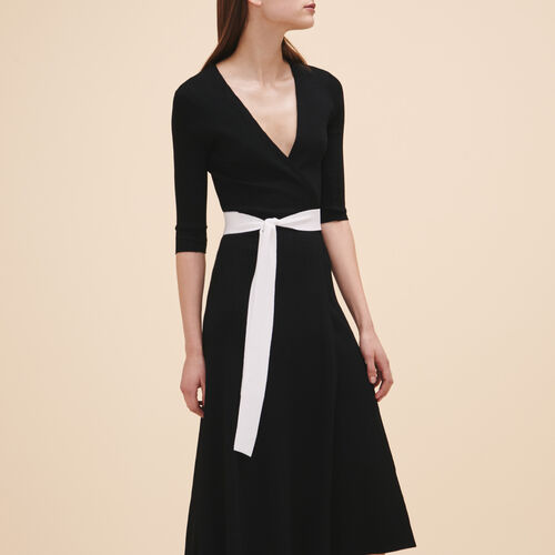 Vestido largo de punto - Vestidos - MAJE
