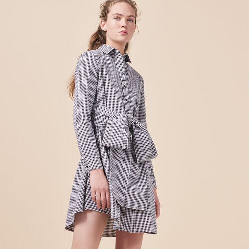 Hemdkleid mit Vichy-Print - Kleider - MAJE