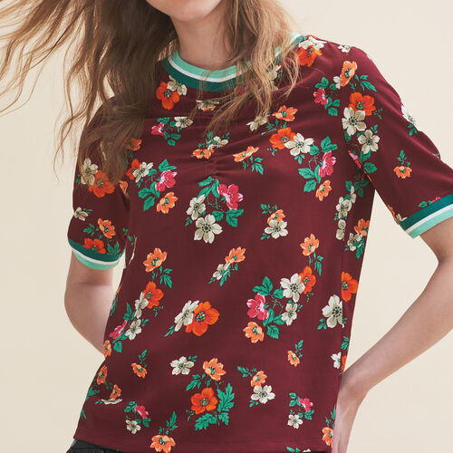 Flowing top with a retro print - Tops - MAJE