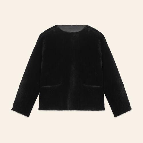 Reversible sheepskin jacket - Coats & Jackets - MAJE