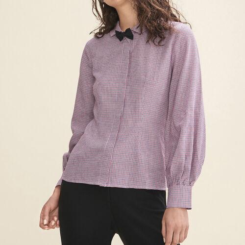 Micro-checked shirt - Tops & T-Shirts - MAJE