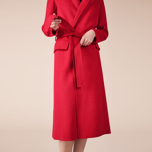 Wool-blend coat - Coats & Jackets - MAJE