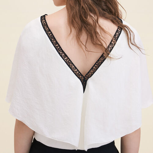 Loose crêpe top - Tops & T-Shirts - MAJE
