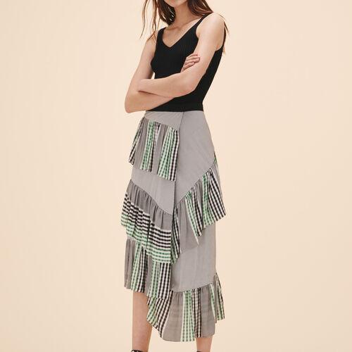 Falda de largo medio con volantes - Faldas y shorts - MAJE