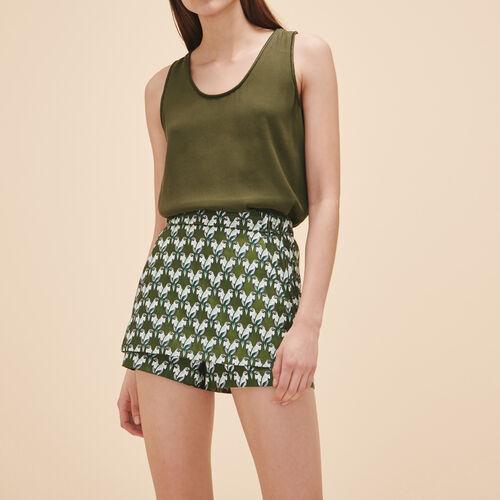 Jacquard skort - Skirts & Shorts - MAJE