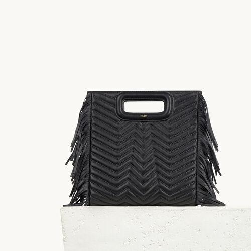 Quilted leather bag with fringing - Handbags & Purses - MAJE