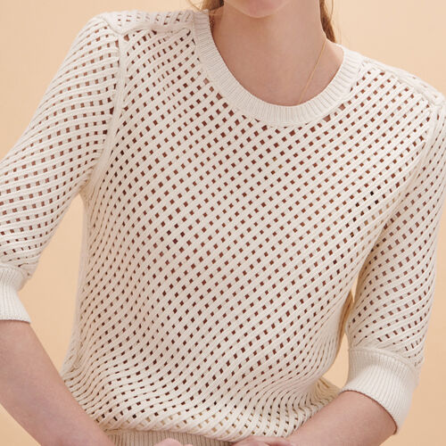 Pullover aus Zopfmusterstrick - Strickwaren - MAJE