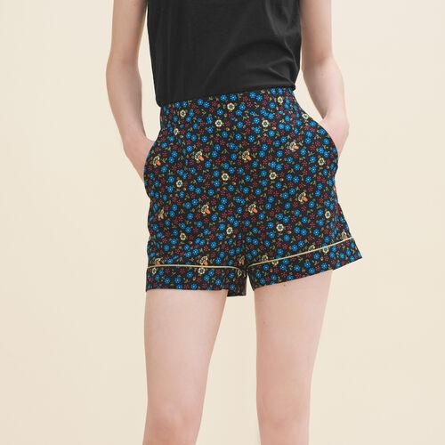 Short imprimé fleurs - Skirts & Shorts - MAJE