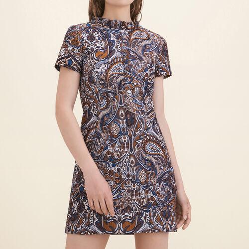 Jacquard straight-cut dress - Dresses - MAJE