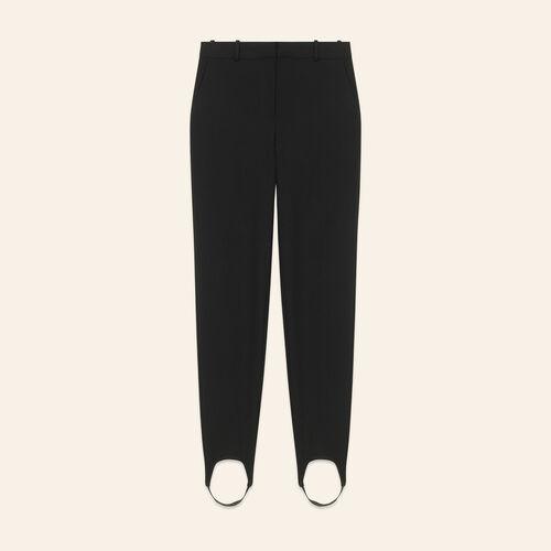 Elastic stirrup trousers - Pants & Jeans - MAJE
