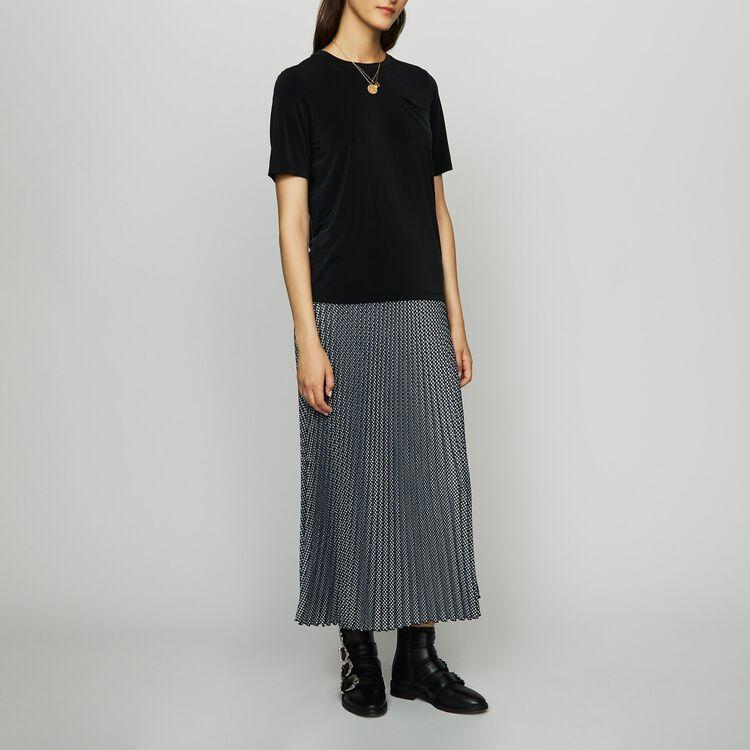 Tee-shirt en cupro - Hauts - MAJE