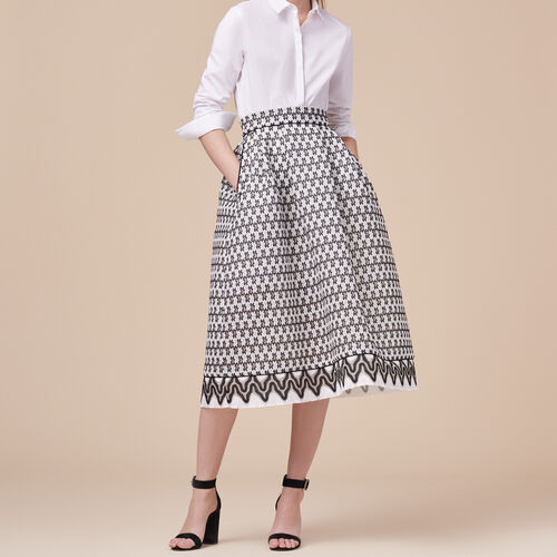 Lace midi skirt - Skirts & Shorts - MAJE