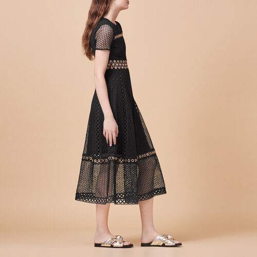 Long embroidered dress - Dresses - MAJE