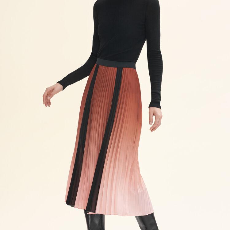 Jupe plissée tie & dye - Jupes & Shorts - MAJE
