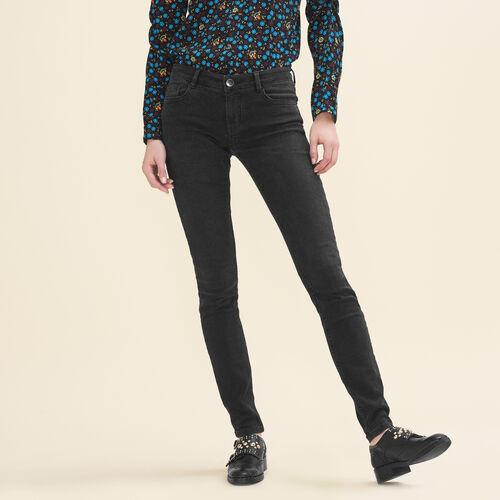 Stretch cotton skinny jeans - Pants & Jeans - MAJE