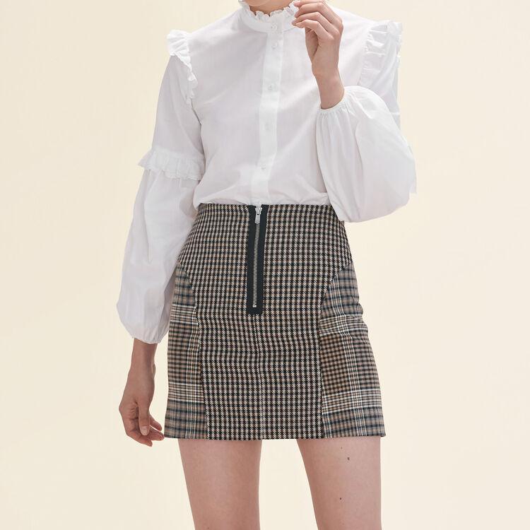 Jupe à carreaux - Jupes & Shorts - MAJE