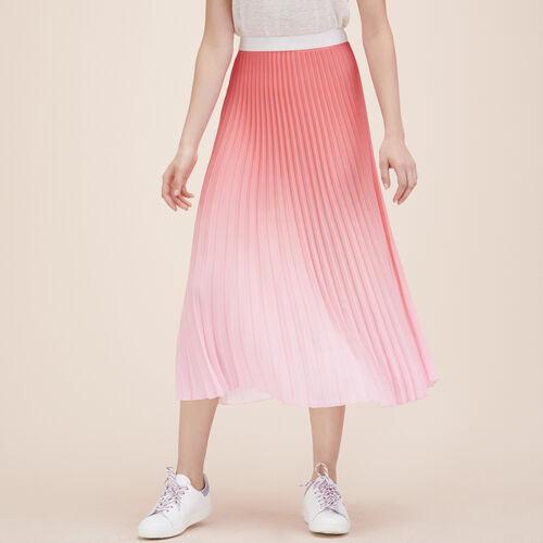 Falda plisada largo medio teñido anudado - Ver todo - MAJE