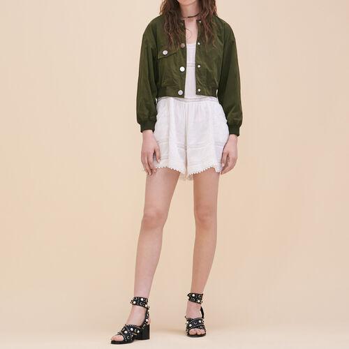 Lace playsuit - Skirts & Shorts - MAJE
