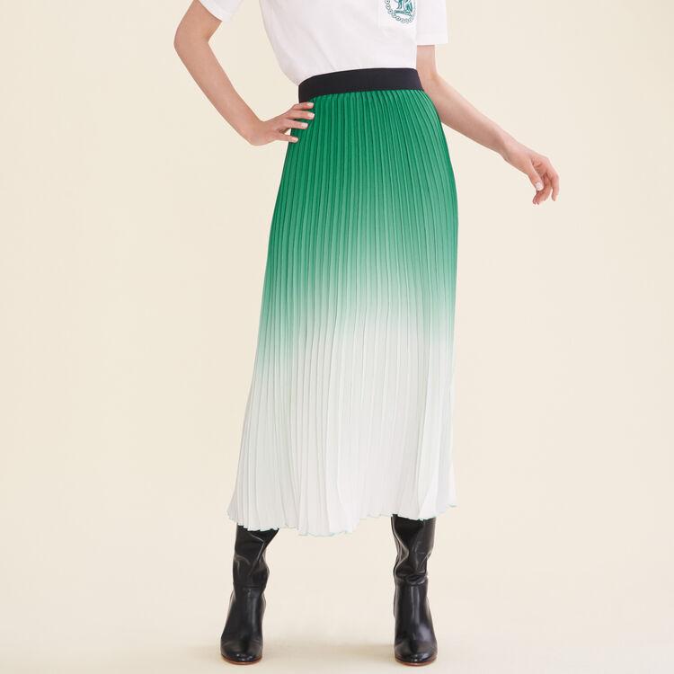 Jupe plissée tie and dye - Jupes & Shorts - MAJE