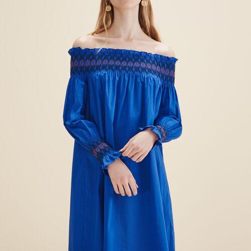 Vestido con hombros al descubierto - Vestidos - MAJE
