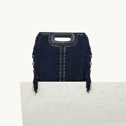 Suede bag with studs - All bags - MAJE