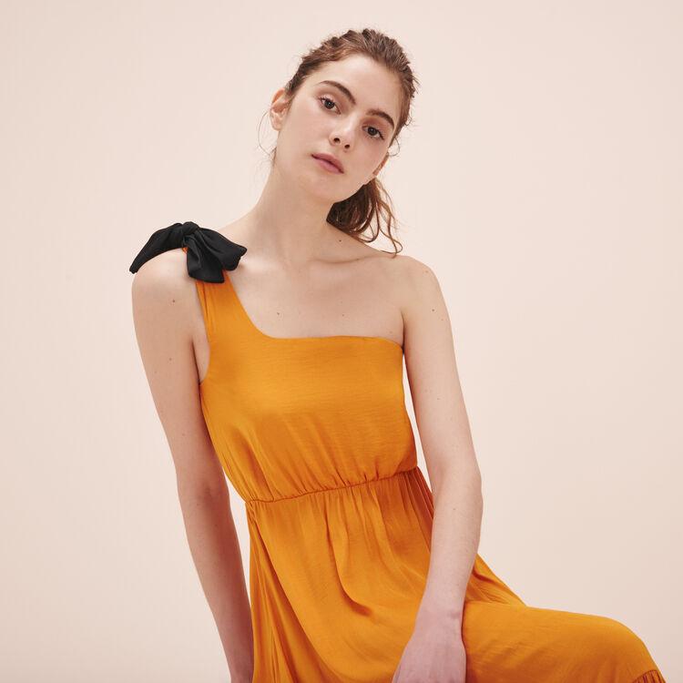 Robe longue asymétrique - Robes - MAJE