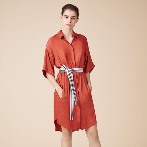 Vestido camisero vaporoso - Best Sellers - MAJE