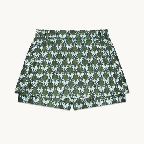 Falda pantalón de jacquard - Faldas y shorts - MAJE