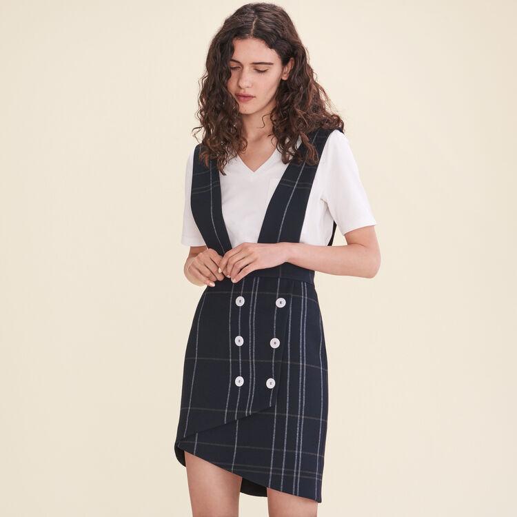 Jupe tartan à bretelles - Jupes & Shorts - MAJE