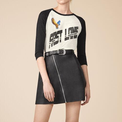 Leather A-line skirt - Skirts & Shorts - MAJE