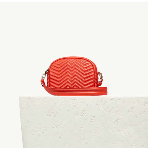 Round quilted leather bag - All bags - MAJE