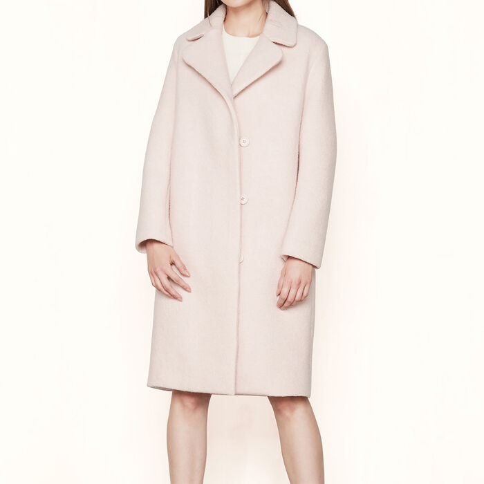 GYMON Long boiled wool coat - Coats - Maje.com