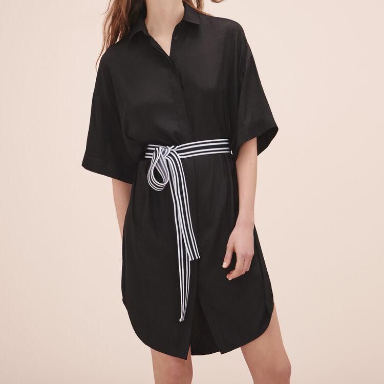 Robe chemise fluide - Best Sellers - MAJE